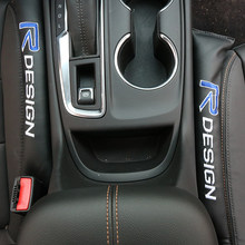 2x Assento De Couro Almofada Lacuna Enchimentos Spacer Acessórios Do Carro Para Volvo s40 Xc60 S60 S80 V40 V60 v50 850 c30 XC90 s90 v70 v90 xc70