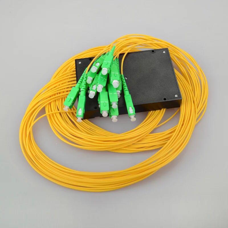 5 pièces diviseur optique de PLC de SC RPA 1x16 PLC diviseur optique de Fiber monomode 1x16 ABS Boîte Cassette Carte