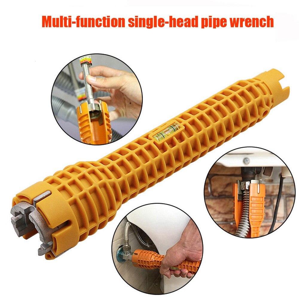 Faucet Sink Installer Tool Pipe Wrench Power Drill Ratchet Bushing Spanner Key Gator Magic Grip Multi-purpose Plumbing Tool