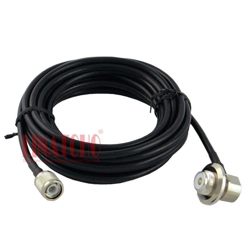 5 meters 50ohm RG58U with TNC male and SO239 female connector car radio antenna connecting cable