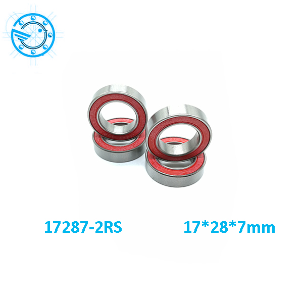 Free Shipping  17287-2rs  wheel hub bearing stainless steel Si3N4 hybrid ceramic bearing 17*28*7mm
