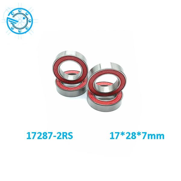 Бесплатная Доставка 17287-2rs подшипник ступицы колеса из нержавеющей стали гибридные керамические подшипники Si3N4 17*28*7 мм