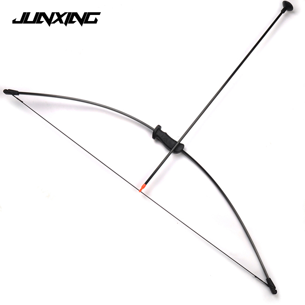 Traditional Bow Set Draw Weight 20 Lbs for Children Archery Training Toy Games with 2 Chuck Arrows & Finger and Arm Guard