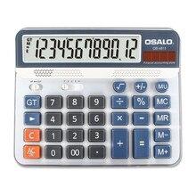 NEW 6815 Desktop calculator environmental protection ABS plastic OSALO 12 digit display solar dual power calculators