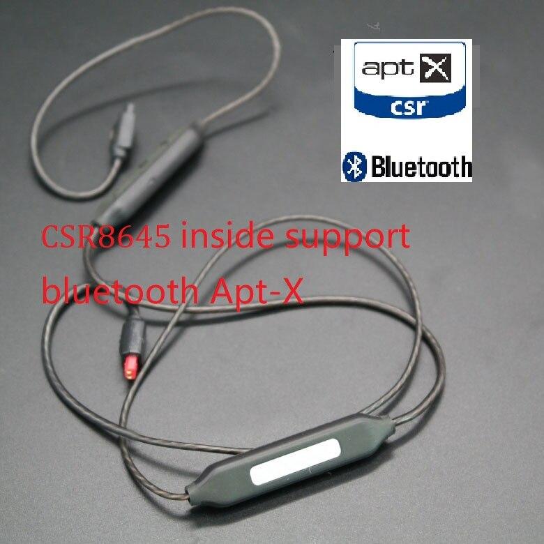 Apt-X AAC bluetooth Kabel für shure se215 se535 se846 UE900 IM50 IM70 ie80 ie8 A2DC LS50 AptX Wireless kopfhörer mmcx kabel