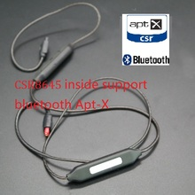 bluetooth mmcx Cable support aptX for shure se215 se535 se846 UE900 ie80 ie8 replacement Apt-X wire headphones high quality high quality mmcx plug for shure se215 se315 se535 se846 ue900 earphone silver plate cable 3 5mm upgrade replacement audio line