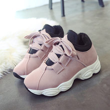Brand New Platform Sneakers Women Shoes Winter 2018 Casual Creepers Cotton  Shoes Ladies Trainers Runway Walking db0bbb451b8f