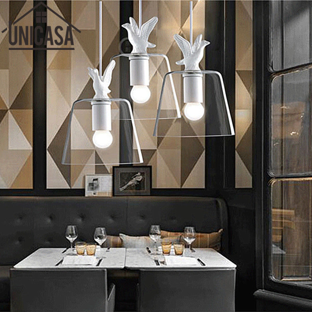 Modern ceiling lamp clear glass shade antique pendant lights vintage modern ceiling lamp clear glass shade antique pendant lights vintage bar lighting fixtures kitchen island hotel aloadofball Image collections