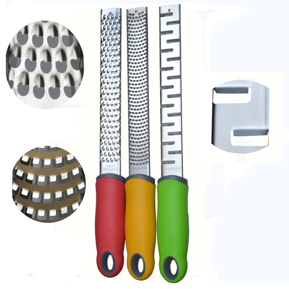 3pcs Three different  Blades Stainless Microplane  Cheese/Lemon/ Chocolate Grater,Lemon Zester, Free shipping