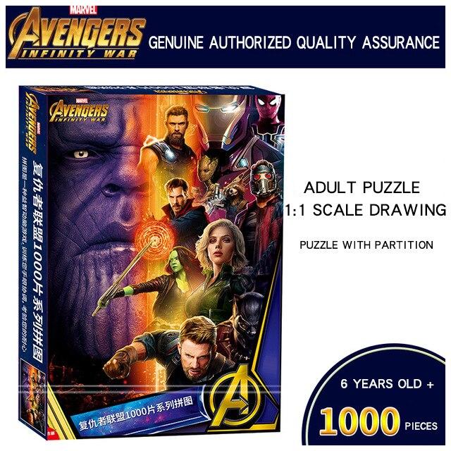 Disney Marvel Puzzle Avengers: infinity War Papier Puzzle 1000 pcs Film Personnages Version Puzzle pour Enfants et Adultes