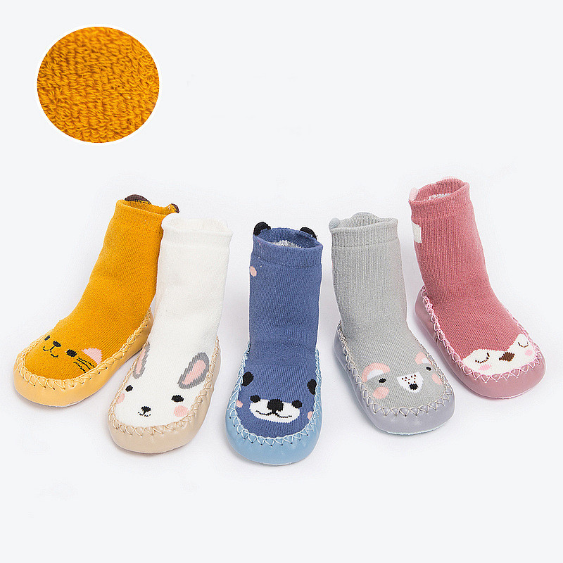Cartoon Baby Socks With Rubber Soles Infant Sock Newborn Winter Children Floor Socks Shoes Anti Slip Soft Sole Christmas Socks