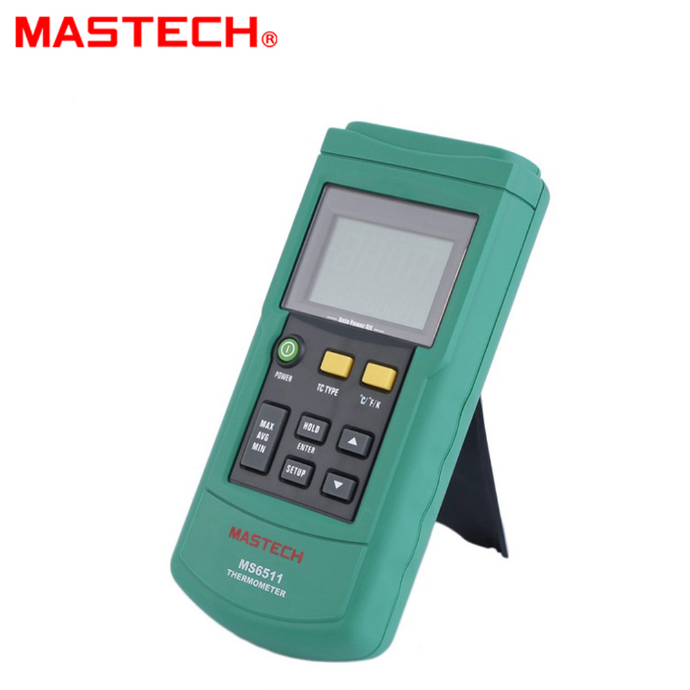 MASTECH MS6511 Digital Thermometer Single Channel K, J, T, E Thermocouple Type Temperature Meter