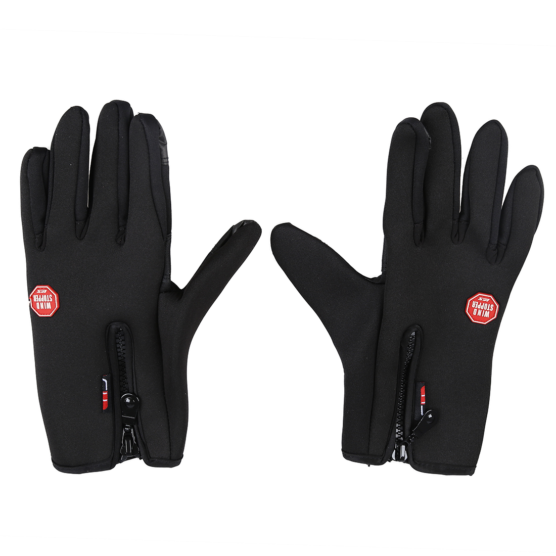 MOOL Touch Screen Windproof Warm Gloves Outdoor Cycling Skiing Hiking Unisex Black S ...
