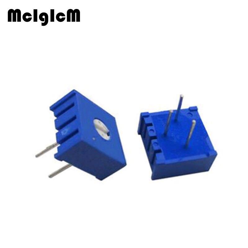 MCIGICM 1000PCS 3386P potentiometer precision adjustable resistance 100 200 500 ohm 1K 2K 5K 10K 20K 50K 100K 200K 500K 1M ohm