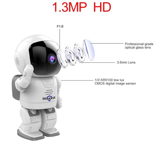 Robot camera Wifi 960P 1.3MP HD Wireless IP Camera Wi-fi Night Vision Camera IP Network Camera CCTV support two-way audio Hiseeu