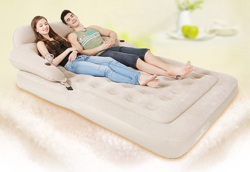 Precise Multifunctional Portable Air Inflatable Sofa Bed Outddor Furniture Home Bedroom Garden Sofa For 2 Person With Air Pump Yt-142 Furniture Home Furniture