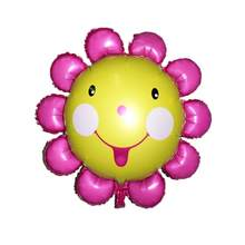 Toys Party Decoration Globos Super Large Sun Flower Foil Balloons Smile Face Mylar Balloon Lovely Kids Toy(China)