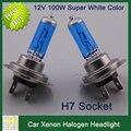 2pcs/lot 100W H7 Car Headlights XENON HALOGEN BULB Headlamp 4300K 12V Lamp Super White Night Light Car Styling Headlight Bulbs