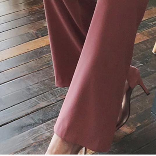 Women's Clothing Pants & Capris Just 2019 Spring Woman Wine Red Wide Leg Pants High Waist Pockets Button Zipper Fly Solid Bottom New Office Lady Hots Sales B8d725j