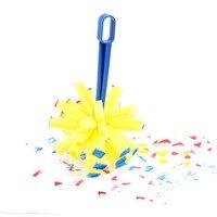 15cm Explosion broom head sponge painting brush Plastic handle graffiti children art drawing kids toys DIY Early Learning Toy
