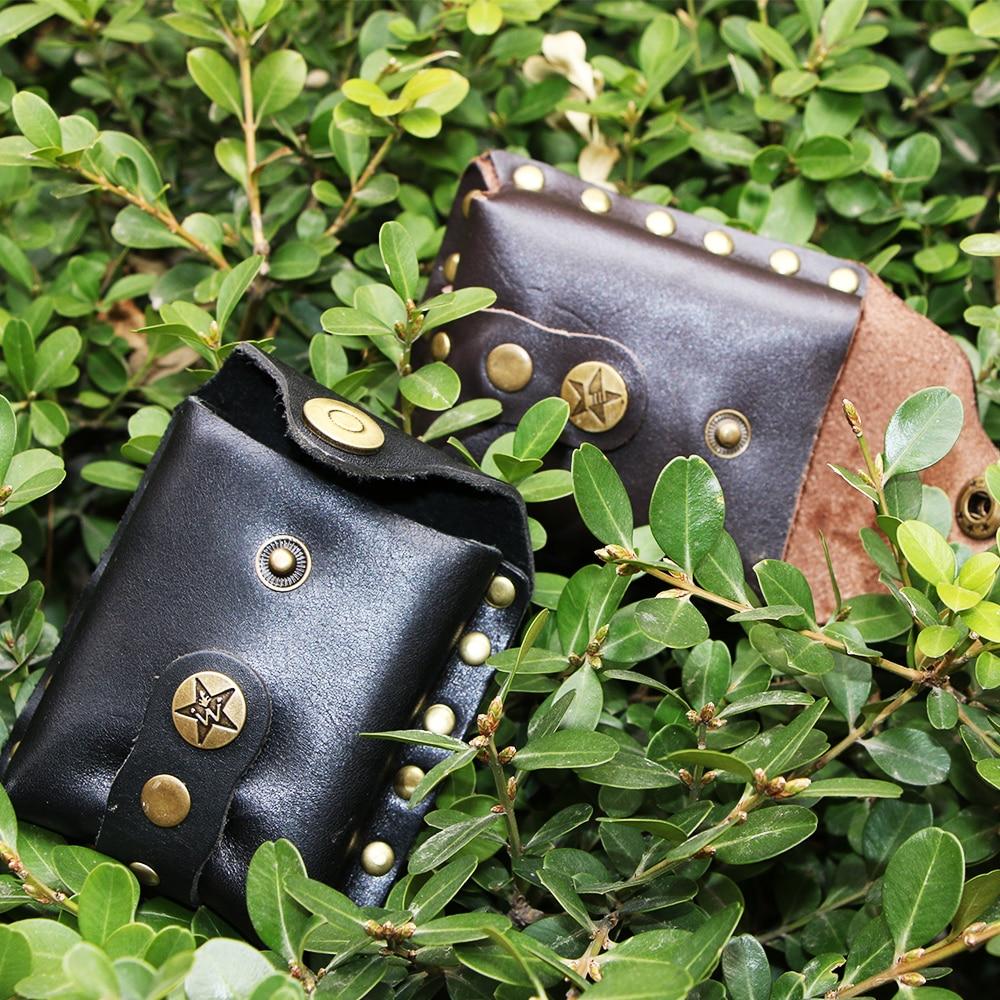 Outdoor Archery Slingshot Steel Balls Leather Waist Bag Pocket Hunting Catapults Estilingue Balls Case for Slingshot Shooting