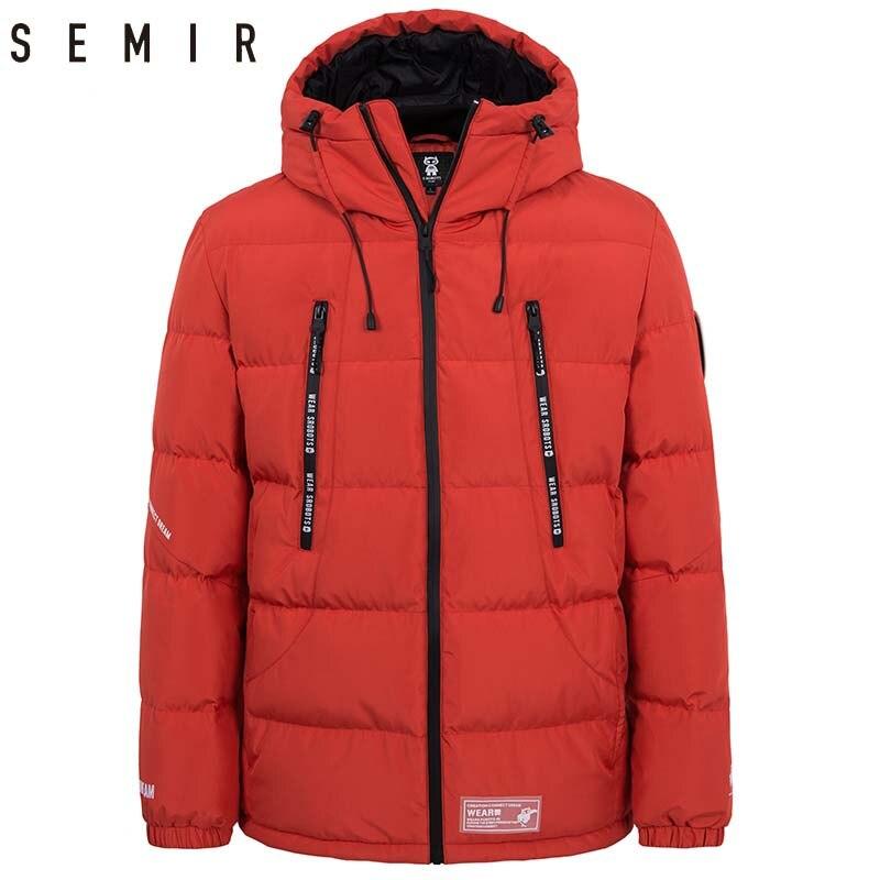 SEMIR doudoune pour homme épais chaud hiver veste hommes 80% canard doudoune vêtements plume manteau hommes vêtements d'extérieur décontractés