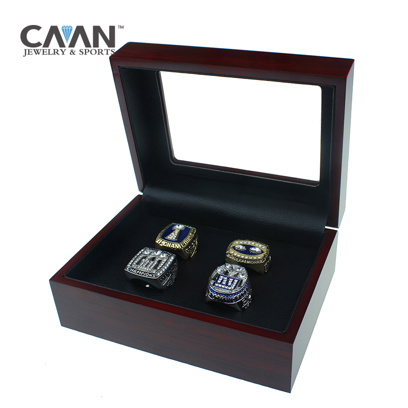 Drop shipping 4Pcs/Set Factory Promotions price Giants 1980 1990 2007 2011 Replica Championship Ring set For New York FANS sleeping giants