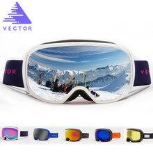 d4f4c31b3246 VECTOR Brand Ski Goggles Men Women Anti-fog UV400 Skiing Snowboard Goggles  Spherical Big Mask