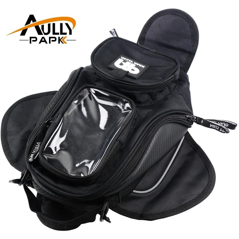 New Black Oil Fuel Tank Bag Magnetic Motorcycle Motorbike Oil Fuel Tank Bag saddle Bag w/ Bigger Window Moto Accessory