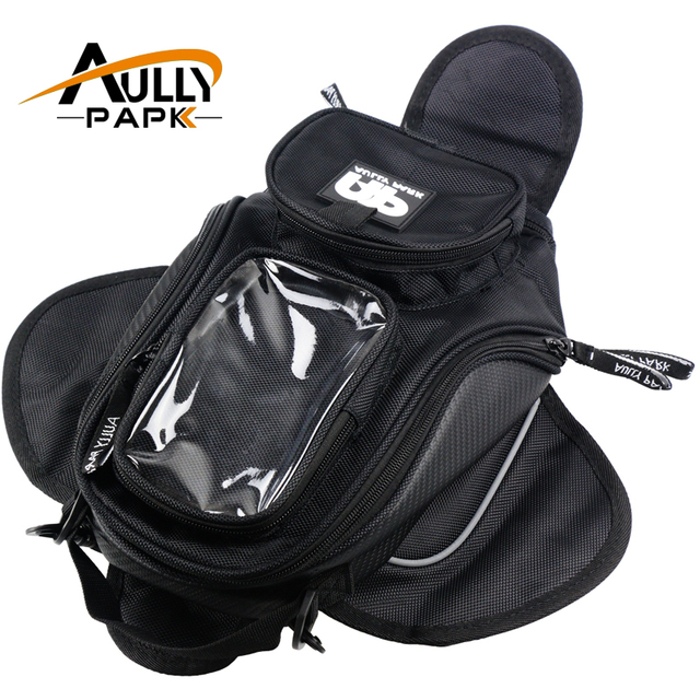 New Black Oil Fuel Tank Bag Magnetic Motorcycle Motorbike Saddle W