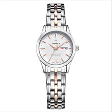 Nuevas Mujeres Reloj de pulsera Simple Dial Nuodun Señoras Reloj de Cuarzo Vestido Causal Reloj Impermeable Relojes Mujer Vroumen Uhren