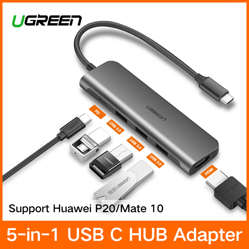 Ugreen USB C HUB USB-C a 3.0 HUB HDMI Thunderbolt 3 Adattatore per MacBook Samsung Galaxy S9/Nota 9 huawei P20 Pro di Tipo C HUB USB