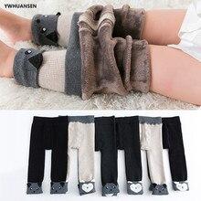 0 に 8 年間厚いフリース裏地レギンスためのgirlscartoon冬の幼児レギンス暖かい子供服綿子供パンツのための