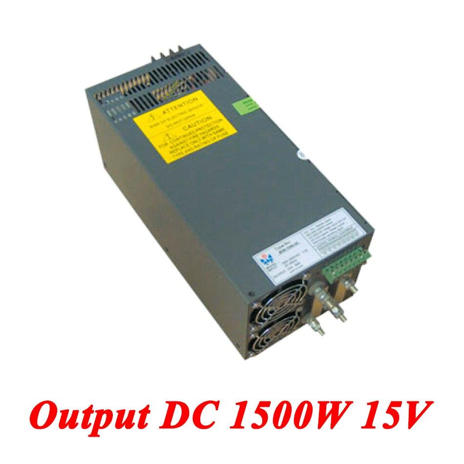 Scn 1500 15 1500 Вт 15 В 100A, высокой мощности один Выход AC DC импульсный источник питания для прокладки водить, AC110V/220 В трансформатор для DC15V