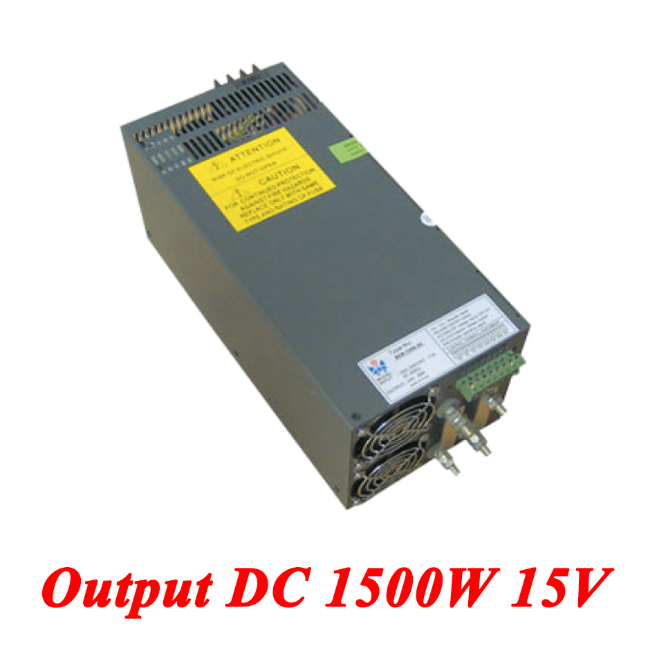 Scn-1500-15 1500W 15v 100A,High-power Single Output ac dc switching power supply for Led Strip,AC110V/220V Transformer to DC15V led driver ac input 220v to dc 1500w 0 15v 100a adjustable output switching power supply transformer for led strip light