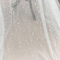 Handmade Sequins Embroidery Embroidered mesh Transparent Fabric Wedding dress diy Material Dress Decorative cloth RS1238
