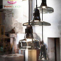 Nordic Creative Chandelier Modern Minimalist Restaurant Bar LED Single Head Shadow Small Glass Chandelier AC90 260V