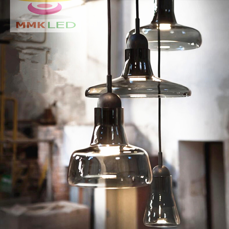Nordic Creative chandelier modern minimalist restaurant bar LED single head shadow small glass chandelier AC90-260V z best price minimalist restaurant bar chandelier single head lamp creative balcony flower pot lamp hanging garden lightings