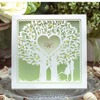 50pcs Lot Hot Sale Love Tree Two People Romantic Laser Cut Wedding Invitation Card With Low