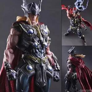 27cm High Quality Super Hero Thor Comics Movie Cartoon Action Figure PVC Model Toy Doll Decoration For Gifts 090 wisehawk nanoblocks toy story super mario woody buzz bulleye action figure movie cartoon model diy diamond micro building bricks