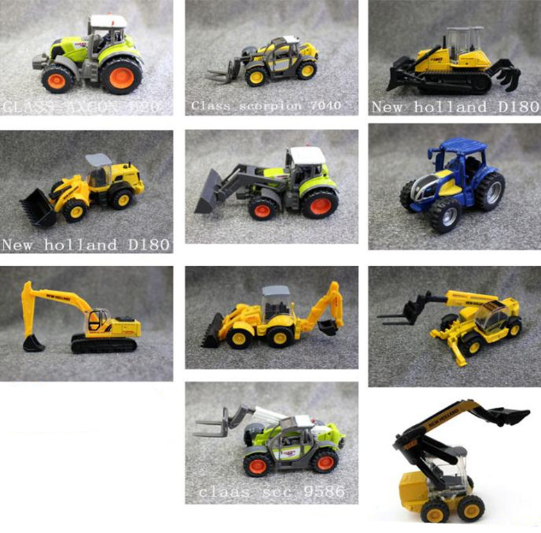 1:64 Alloy Engineering Vehicles Model,high Simulation Forklift,excavator,tractor,metal Castings,static Model,free Shipping