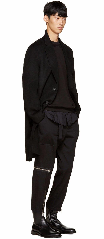 Costumes Chanteur Cheveux Casual Hommes 2019 Styliste Noir Mode Vêtements Taille Nouveau De Pantalon Moderne Zipper 27 Épissage 44 Plus La RqfwxBFqp