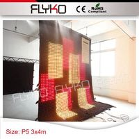 Pixel 50mm 4x3m free shipping led cloth led curtain dj decoration party decoration