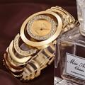 Crrju relógios das mulheres top marca de luxo de ouro de cristal de quartzo das senhoras relógios de pulso pulseira de aço assistir relojes mujer relogio feminino