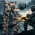 2016 New Arrival High Quality Men's Camouflage Cargo Pants Military Casual Pants For Men Overall Trousers free shipping