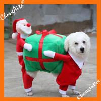 Ortilerri Nuevas Impresiones de Diseño Para Mascotas de Navidad de Santa Claus Ropa de Vestir perro Chaqueta de la Capa de Lana Para El Otoño Invierno Wram Cachorro de Gato chaleco