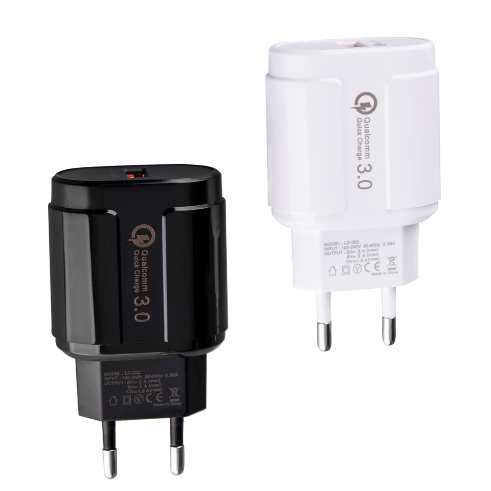 Image 5 - USB Charger 18W Quick Charge 3.0 Mobile Phone Charger 5V/9V/12 for iphone x 8 7 Samsung huawei Xiaomi for tablet wall charger-in Mobile Phone Chargers from Cellphones & Telecommunications