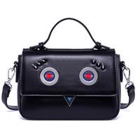 HAOLAINU PU Leather Messenger Bags Women Shoulder Bag Fashion Rivet Crossbody Bag For Girl Luxury Handbags