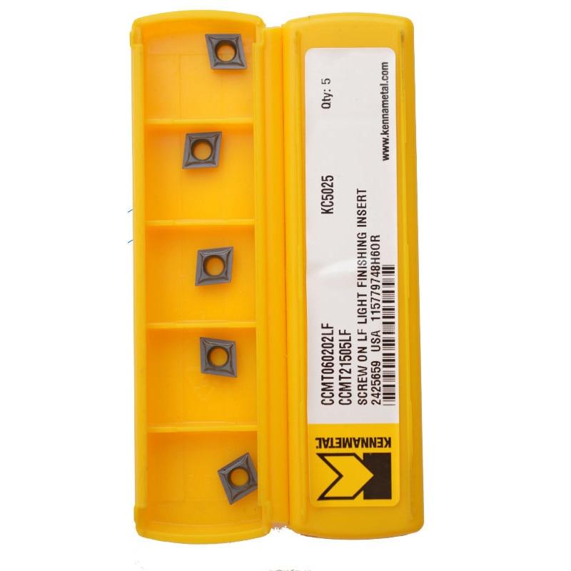 5PCS Kennametal CCMT060202LF CCMT060204LF KC5010 CCMT21.505LF Carbide Inserts Lathe Cutter Boring Bar Tools