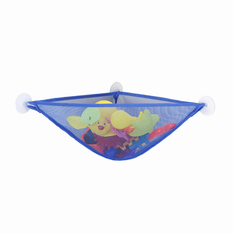 New Bathroom Suction Cup Net Bag Bath Baby Kid Toy Storage Organizer Mesh Storage Bag Shower Toy Holder